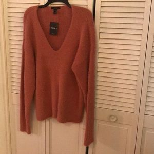NWT Forever 21 V neck mohair sweater